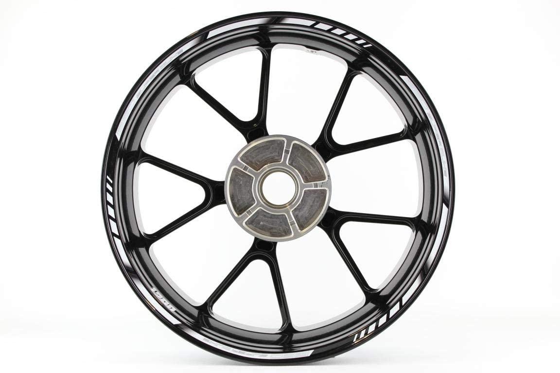 Motorcycle wheel rim decals rimstriping strips accessory sticker for KTM Superduke 1290 (White)