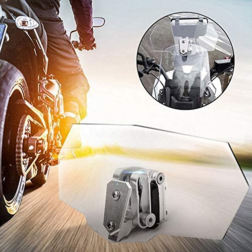 Mudguards Adjustable Clip On Windshield Extension Spoiler Wind Deflector For Motorcycle
