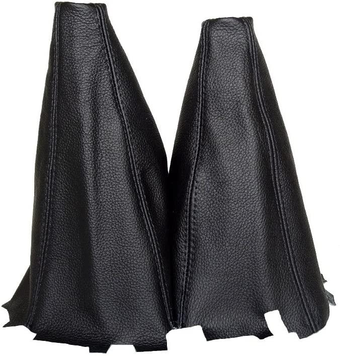 For Mitsubishi L-200 2006-2008 Shift & Hi-Low Boot Black Genuine Leather