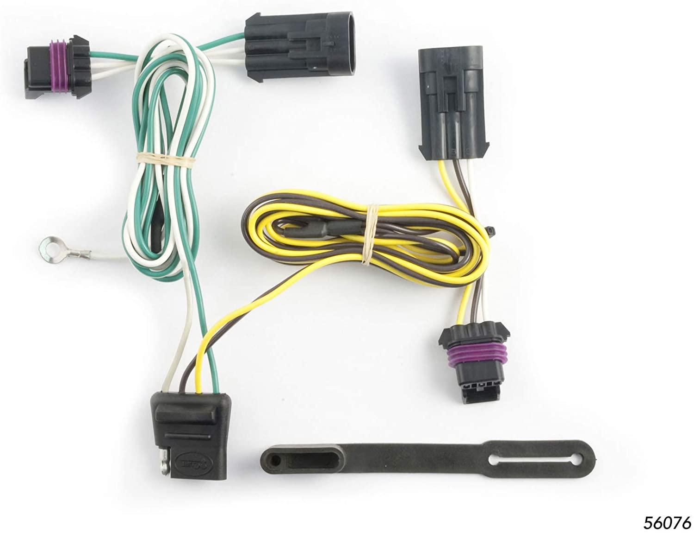 CURT 56076 Vehicle-Side Custom 4-Pin Trailer Wiring Harness for Select Pontiac Grand Prix GT, SE