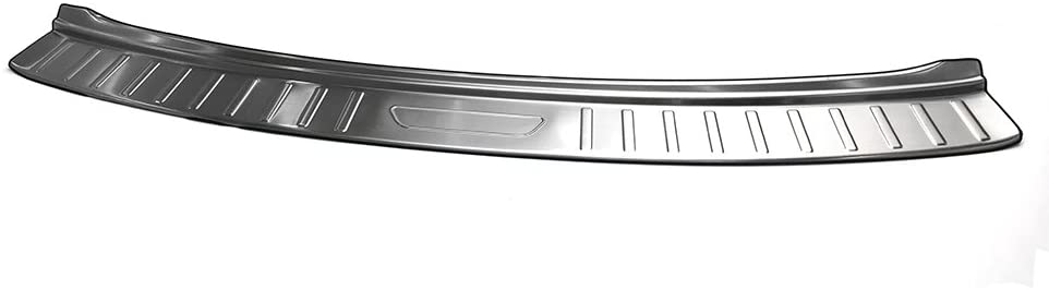 Chebay Rear Door Plate Bumper Cover Bar Sill Trim Protector Fits for Atlas 2018 Silver Outside