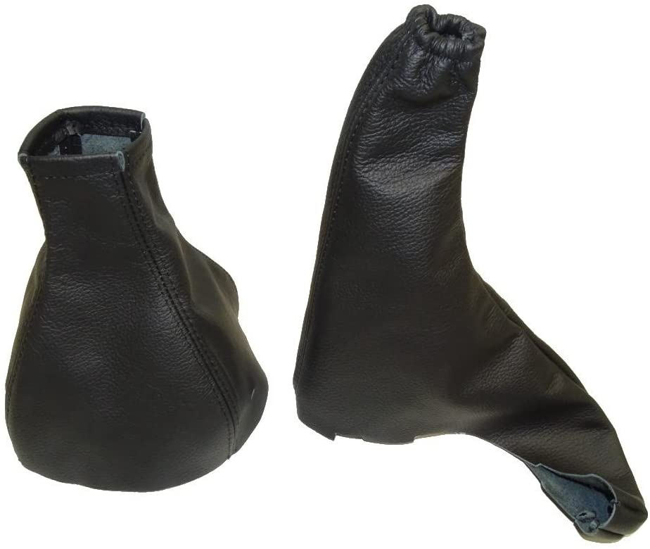 The Tuning-Shop Ltd For Opel Vauxhall Astra G Mk4 Astra Coupe 1998-05 Manual Black Leather Shift E Brake Boot
