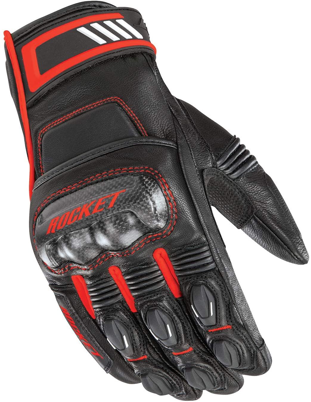 Joe Rocket Men's Highside Motorcycle Glove Black/Red XX-Large