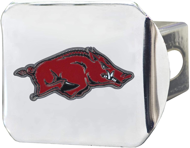 SLS Arkansas Razorbacks 3D Color Emblem Chrome Hitch Cover