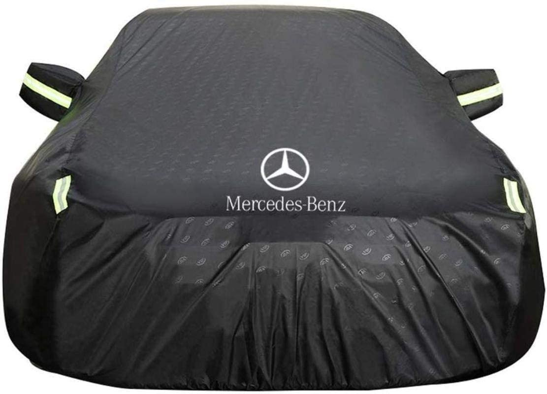 Byrhgood Car Cover Car Cover Mercedes Benz CLA Car Cover Special Car Tarpaulin Rainproof Sunscreen Thickening Insulation Car Cover (Color : Black)