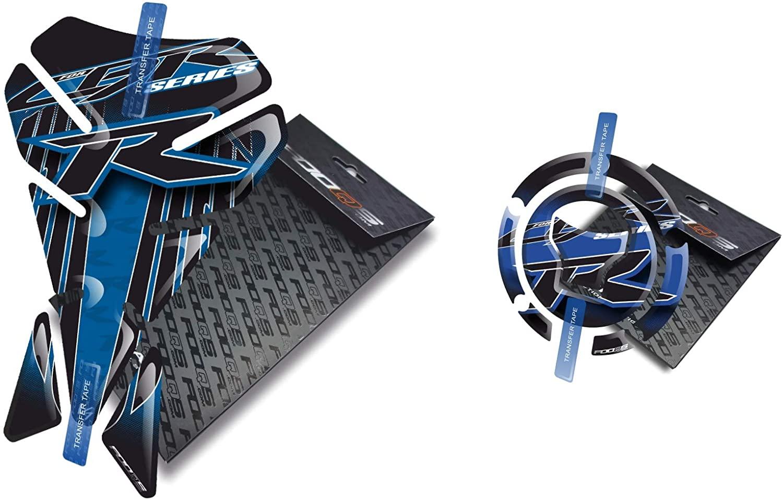Fooqs Tankpad and Cappad V1 for Honda CBR 1000rr Cbr1000rr 1000 Cbr600rr 600rr New Model (Blue)