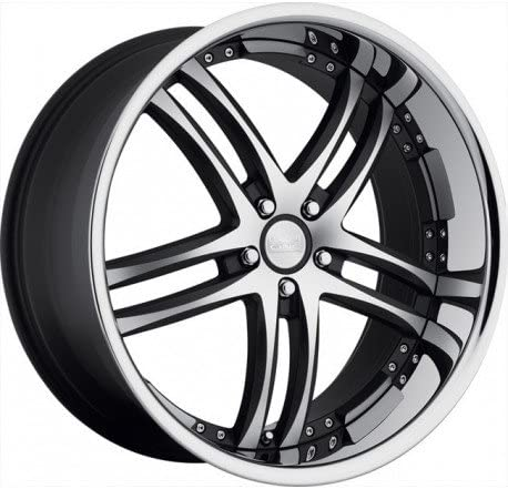 Concept One 743 RS-55 Matte Black Wheel with Machined Lip Finish (20x8.5