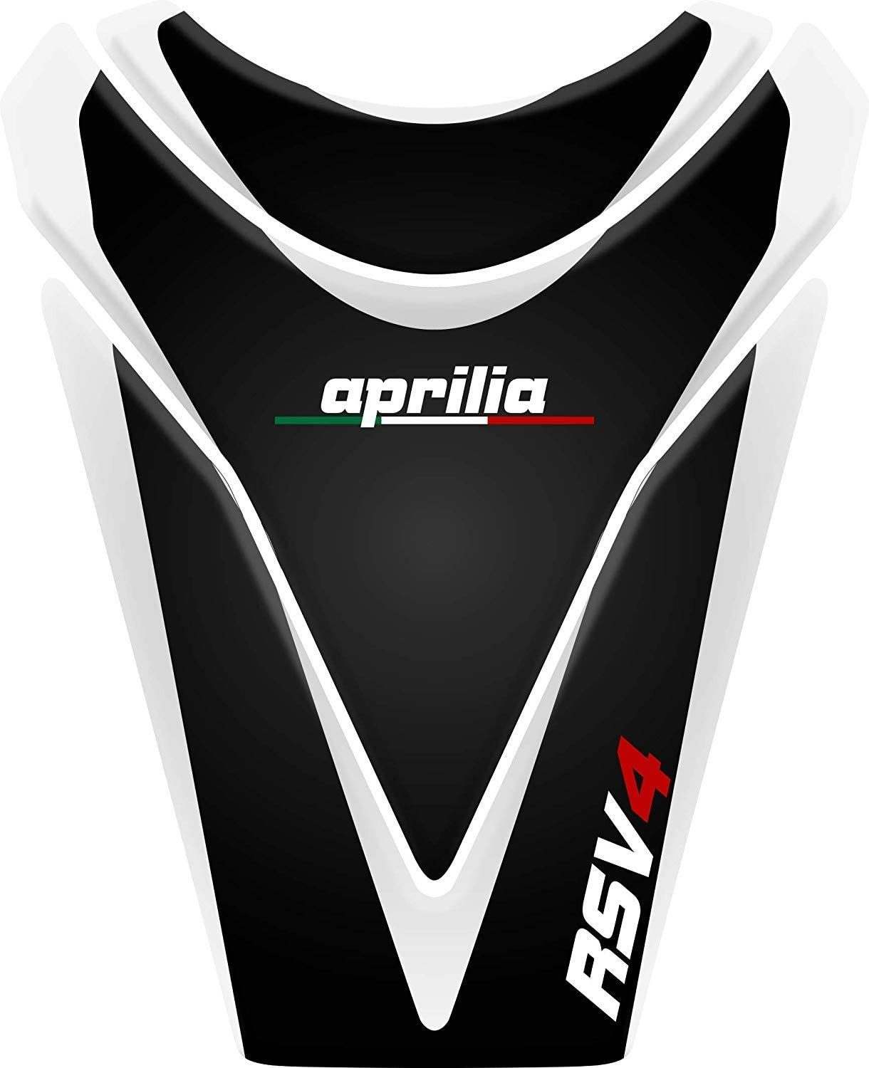 Stickers for fuel tank tankpad 3D effect resin adhesive sticker compatible with Aprilia RSV White