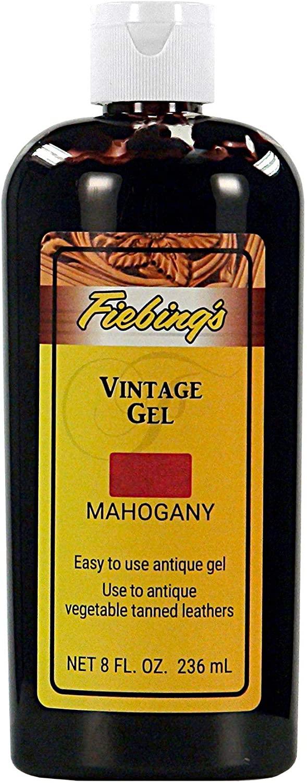 Fiebing's Vintage Gel - Mahogany 8oz - Antique Gel for Leather