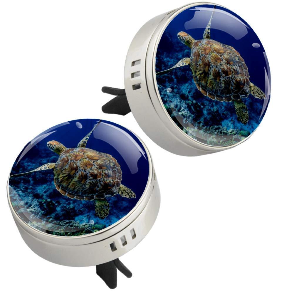 Sea Turtle Car Perfume Car Air Freshener Vent Clip Fragrance Car Smell Airfreshener Perfume Diffuser (silvery)