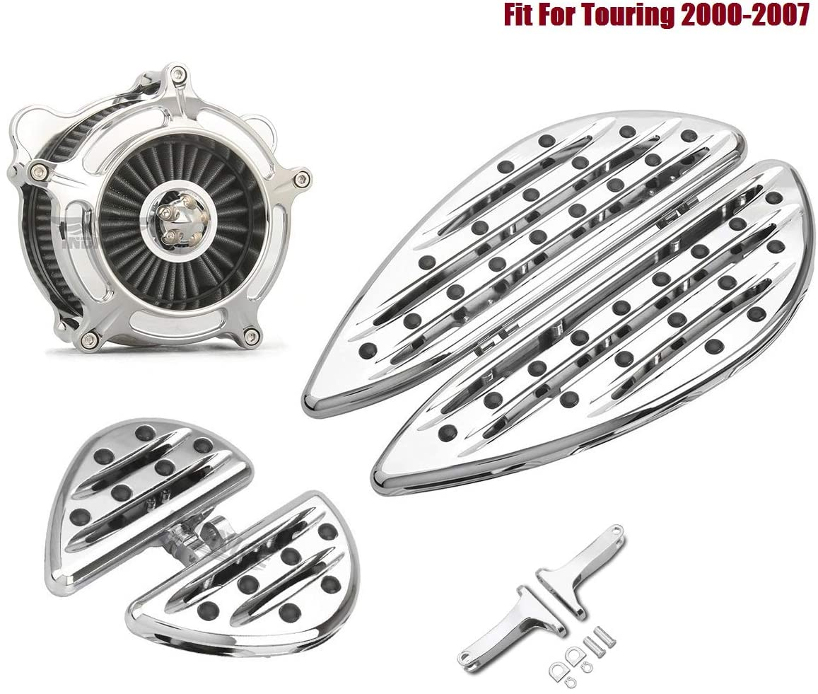 Chrome Deep edge cut Floorboards Footboards Air Cleaner Fit For Harley Softail heritage slim Deluxe FLSTN/I 2005-2015