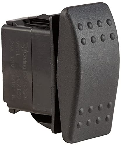 K4 ON-OFF-ON Contura II Sealed Switch W/Hard Touch Black Actuator