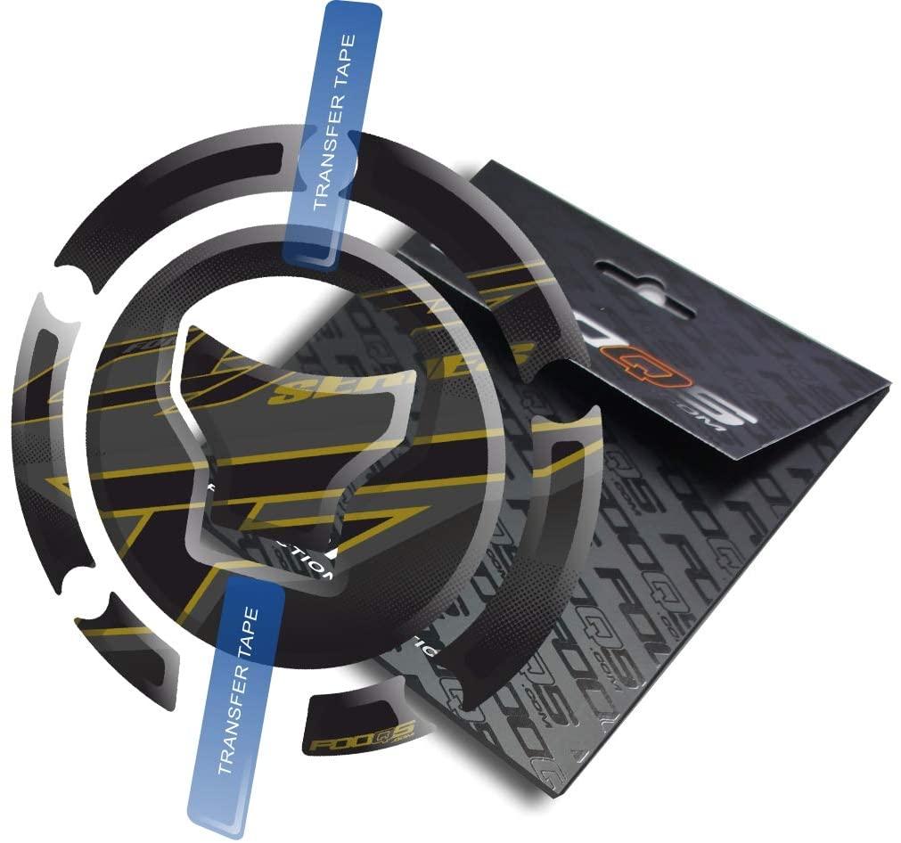 Fooqs Cappad for Honda CBF 500, CBF 600, CBF 650, CBF 900, CBF 1000 New Model (Black/Gold)