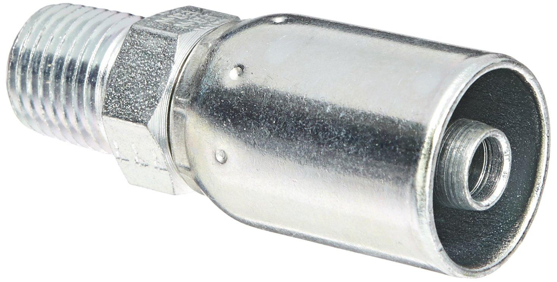 EATON Weatherhead Coll-O-Crimp 06906E-104 Male Pipe Rigid Fitting, AISI/SAE 12L14 Carbon Steel, 5/16