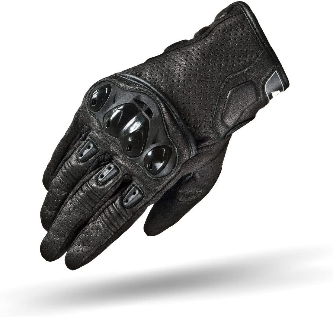 SHIMA Spark Leather Men's Premium Leather Cruiser Motorcycle Gloves, Black L