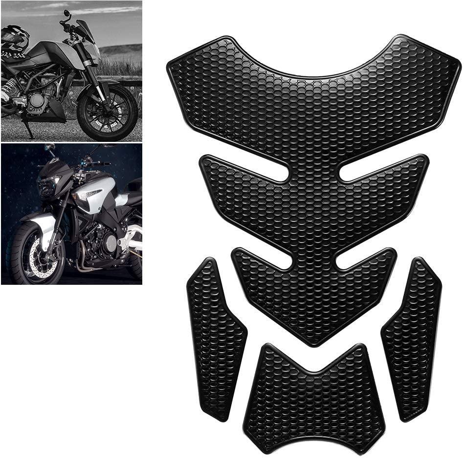 WDINN Gas Tank Protector Motorcycle Tank Pad,3D Motorcycle Sticker Decals Gas Oil Fuel Tank Pad Protector for Suzuki Yamaha Honda Kawasaki Protection DIY for Harley