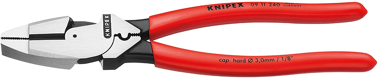 Knipex 09 11 240 Lineman's Pliers 9,45 with fish tape puller