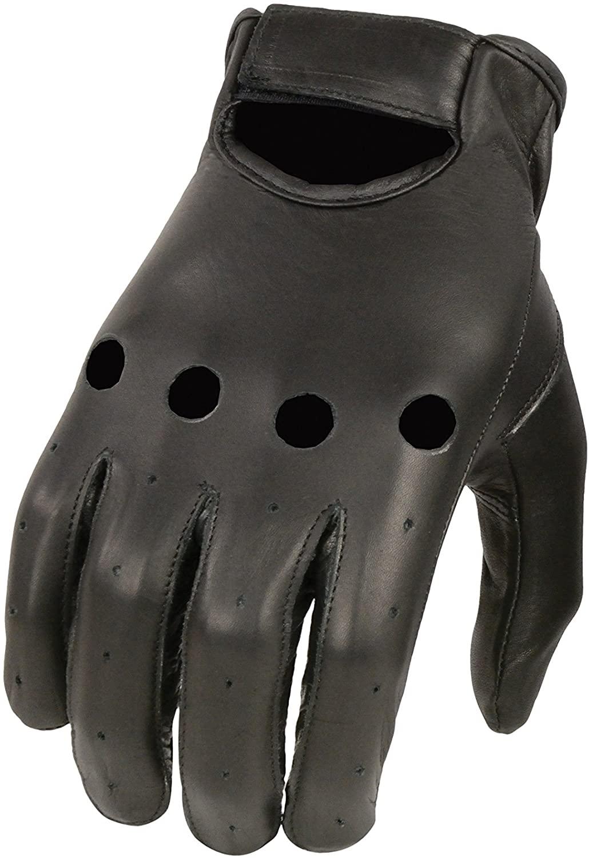 Shaf International Men's Basic Driving Gloves (Black, Large)