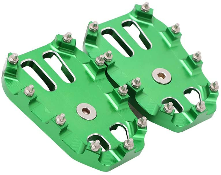 Foot Pegs Footpegs Footrest Large Foot Pedals Dirt Bike Rests CNC MX For KAWASAKI KLX150 L 2015 2016 2017 2018 KLX150BF 2017 Motorcycle Green