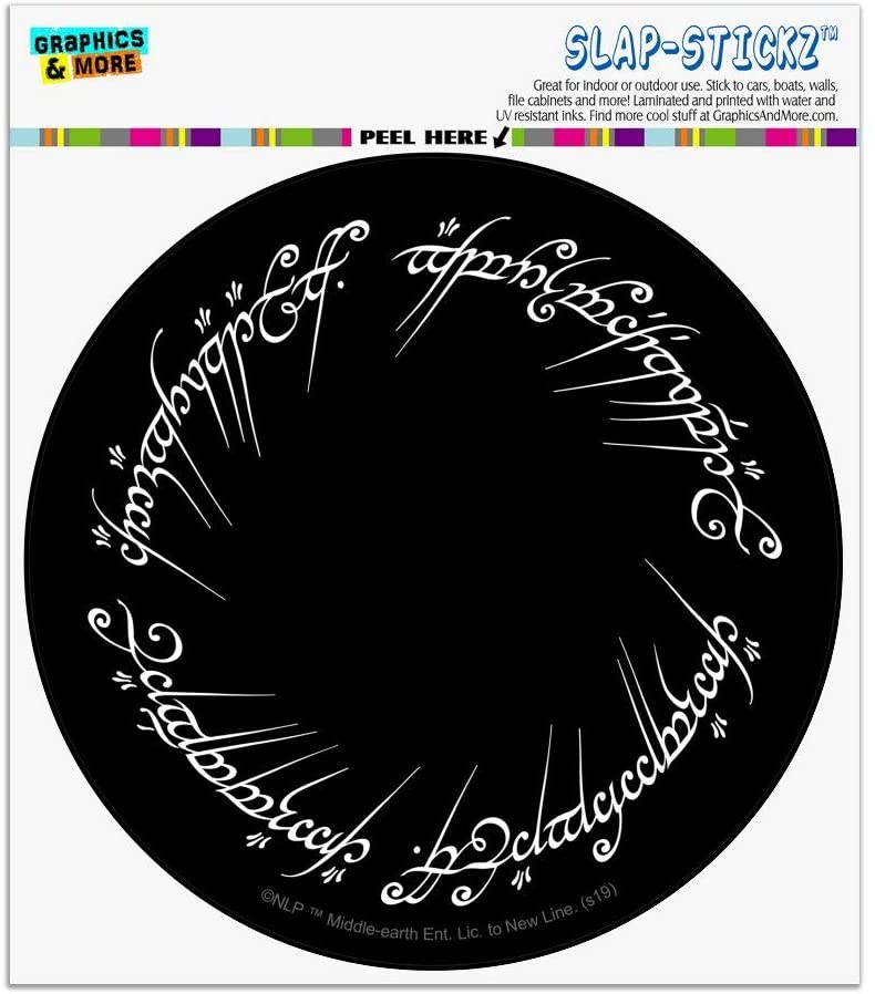 Graphics and More Lord of The Rings Mordor Script Automotive Car Window Locker Circle Bumper Sticker