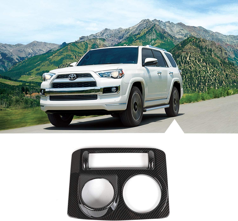 JeCar Center Console 4WD Four-Wheel Drive Panel Cover Trim for 2010-2020 Toyota 4Runner SR5/Limited (Carbon Fiber Grain)