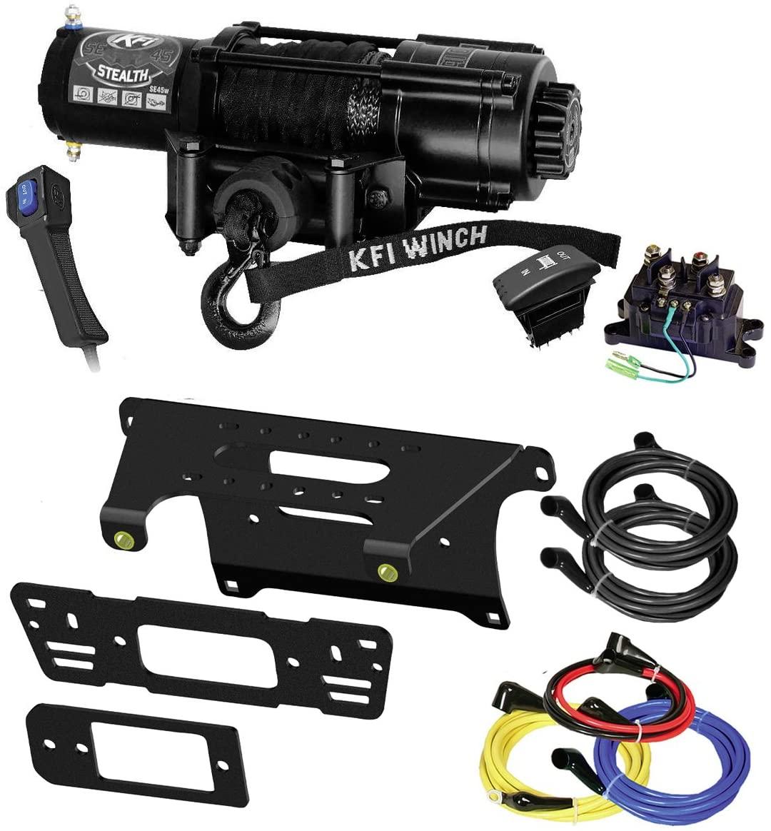 KFI Combo Kit - SE45w-R2 4500lbs Winch & Mount Bracket - compatible with 2014-2018 Polaris 900 Ranger Crew 4x4