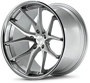 Ferrada Wheels FR2 20x9.0 et35 & 20x10.5 et38 5x120 BMW Z4 M 2009 2010 2011 2012 2013 2014 2015 2016 Machine Silver / Chrome Lip C.B 72.56