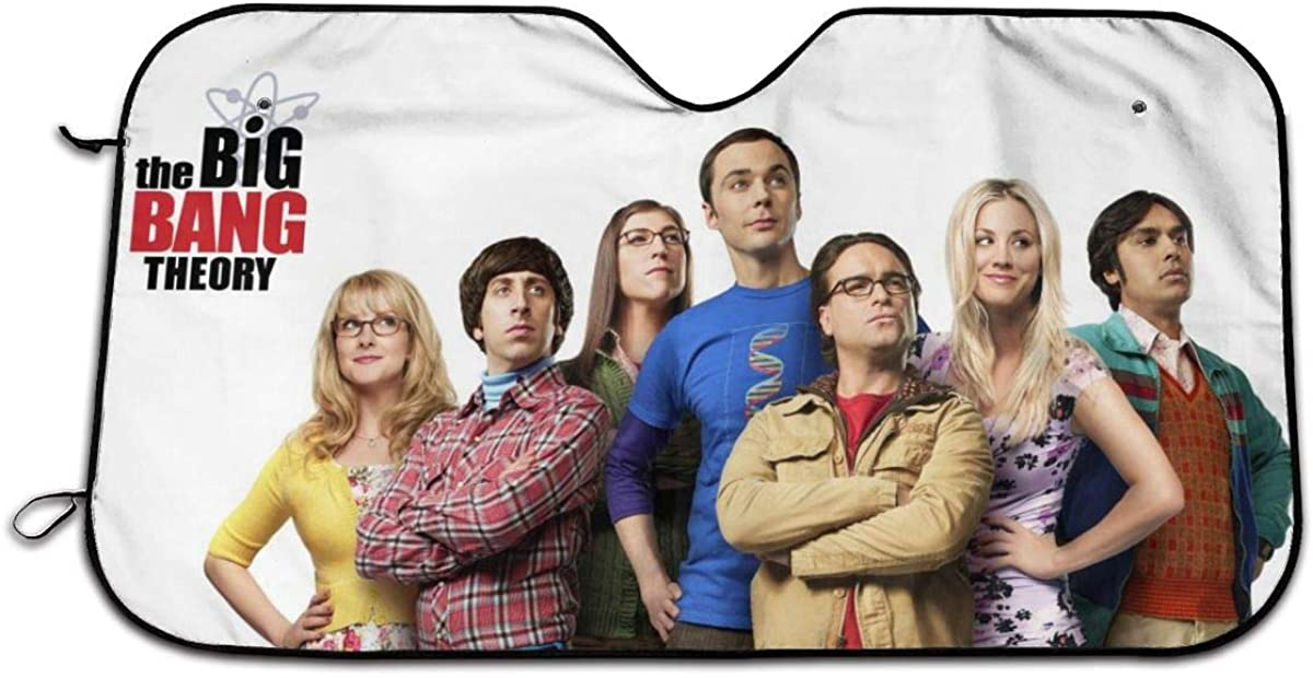 Car Sun Shade The Big Bang Theory Poster Front Windshield Universal Size Reflector Keep Vehicle Heat Shield Cool