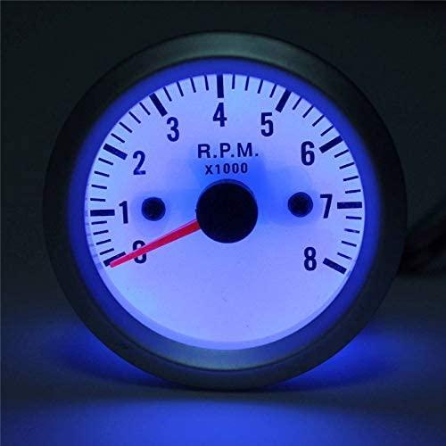 No branded Speedometer Odometer 2'' 52mm Car Engine Rev Counter Tacho Tachometer Pointer Gauge Meter 0-8000RPM LED DC 12V Mini Auto Parts