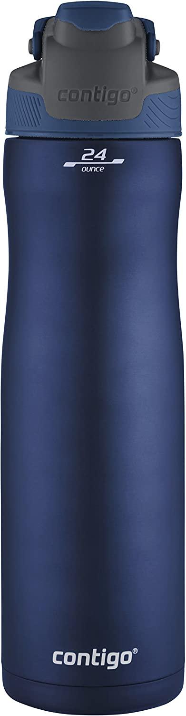 Contigo Autoseal Chill Vacuum-Insulated Stainless Steel Water Bottle, 24 Oz., Monaco