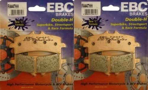 EBC Sintered Double H Front Brake Pads (2 Sets) for Both Calipers 2012 2013 Triumph Speed Triple R ABS FA447HH
