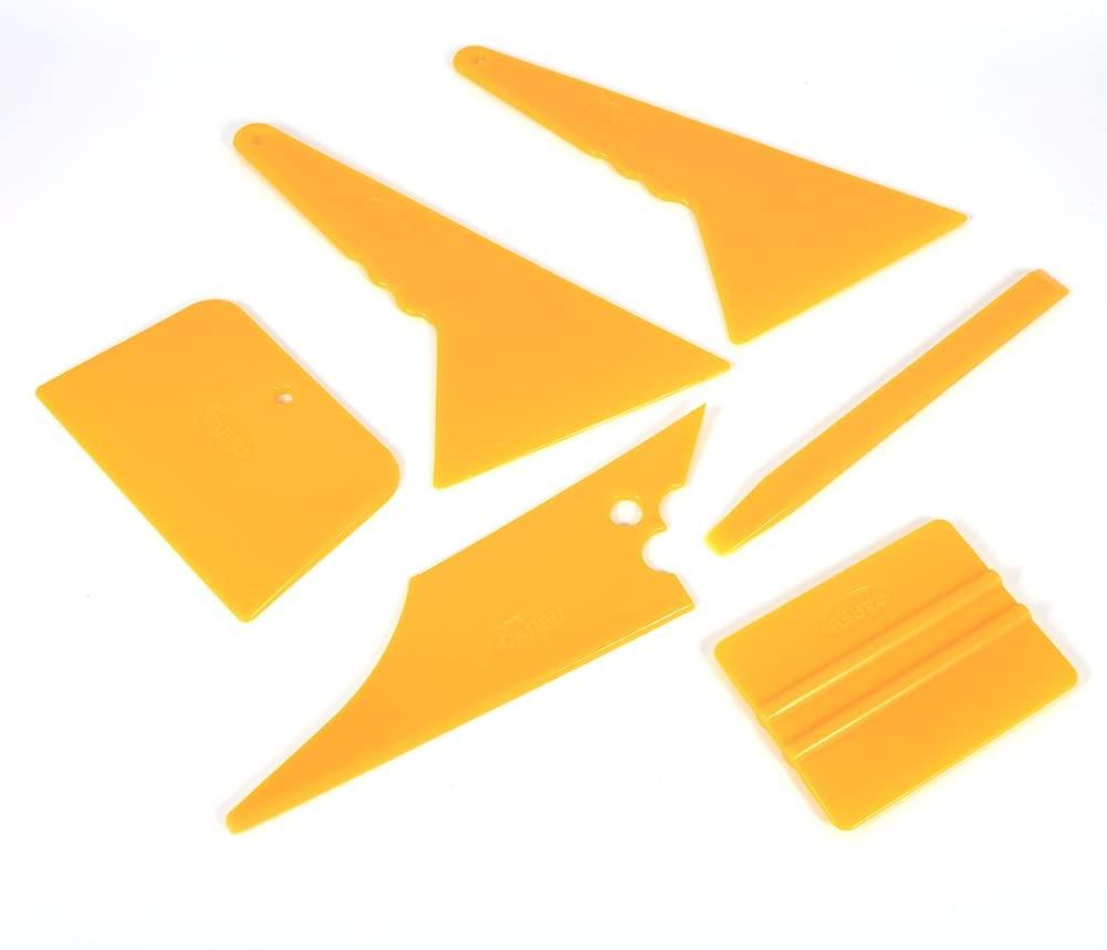 Auto Film Tinting Scrape, 6pcs Professional Film Squeegee Tint Tools Kit ABS Plastic Car Window Tint Tools Kit For Auto Film Tinting Scraper Application Installation