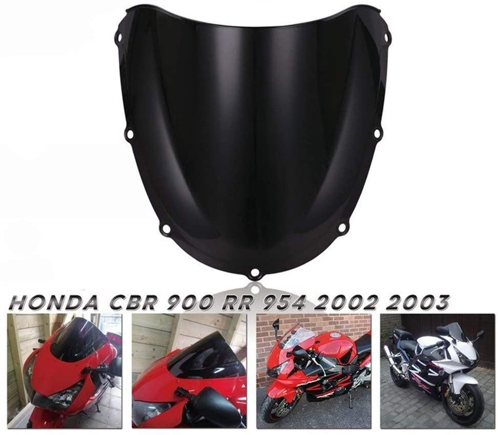 MADONG Compatible with H o n d a CBR900RR CBR954 Windshield Motorcycle Windshield Baffle (Color : Black)