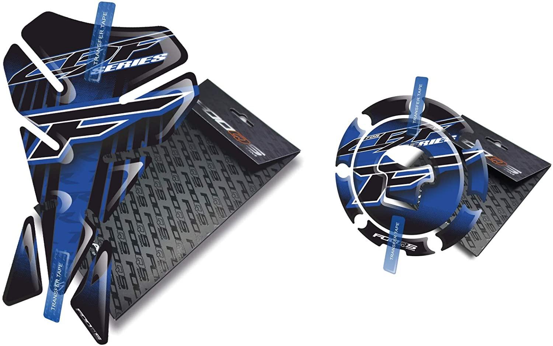 Fooqs Tankpad and Cappad V1 for Honda CBF 500, 600, 650, 900, 1000 Older Model (Blue)