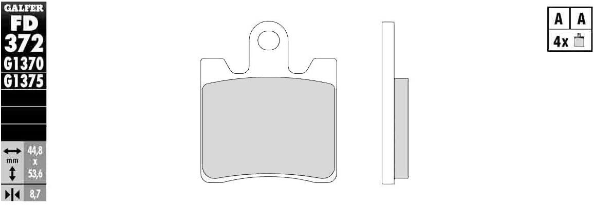 Galfer HH Sintered Ceramic Brake Pads (Front G1375) for 06-18 Yamaha FJR1300A