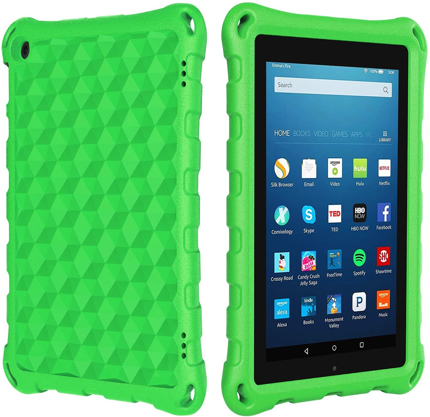 All New 7 inch Tablet Case for Kids, Ubearkk Kid Proof Light Weight Shock Proof Kids Case for 7 inch Tablet (9th/7th/5th Generation, Compatible with 2019&2017/2015 Release), Green