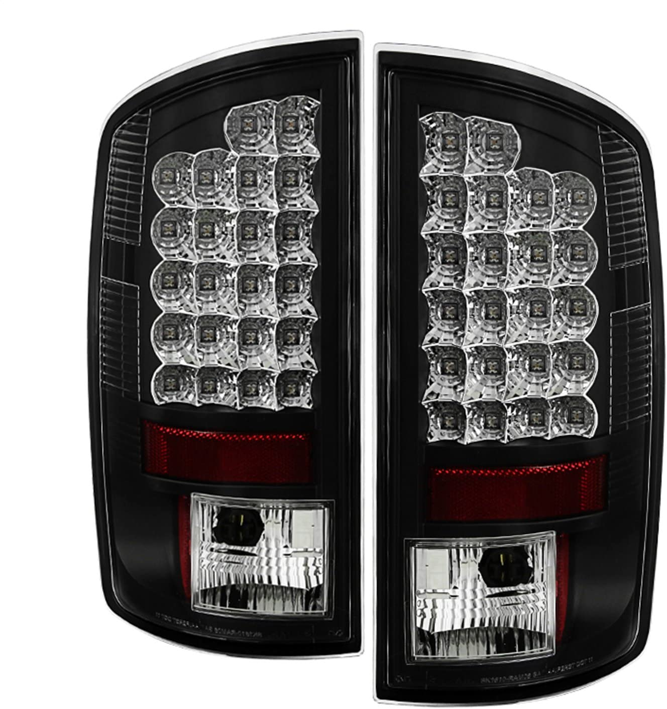 Spyder Auto 5002556 LED Tail Lights Black/Clear