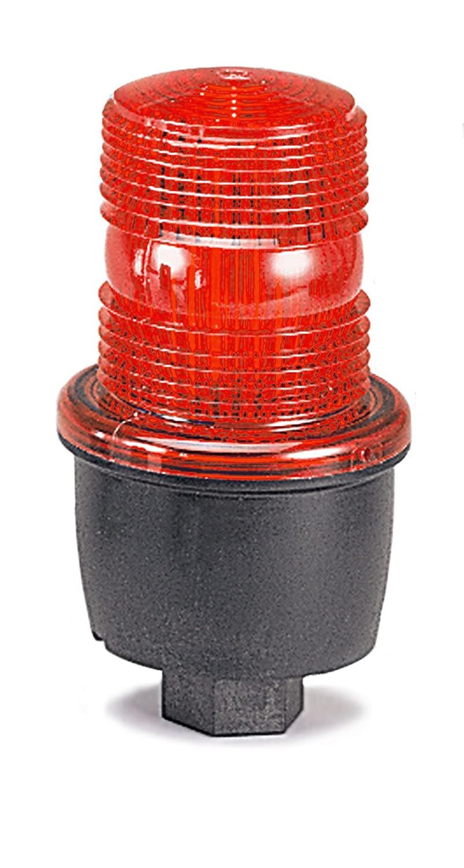 Federal Signal LP3P-240R Streamline Low Profile Strobe Light, Pipe Mount, 240 VAC, Red