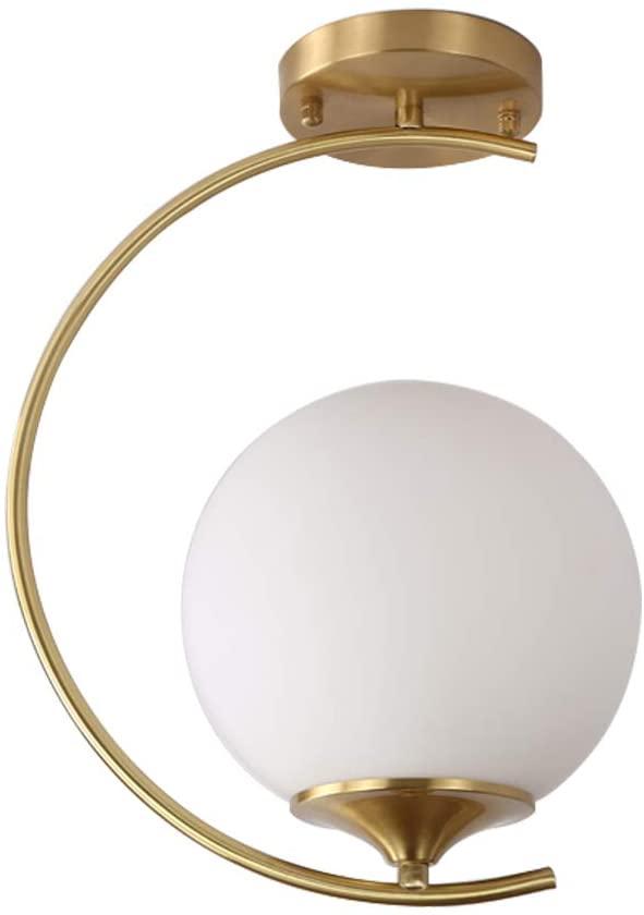 Modo Lighting Modern Semi Flush Ceiling Light Mid Century Industrial Chandeliers Glass Globe Hanging Lights