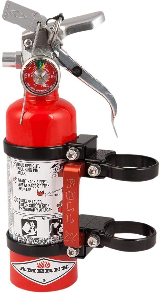 Klock Werks MODFM-BK Quick Release Fire Extinguisher Mount - 3.25in.