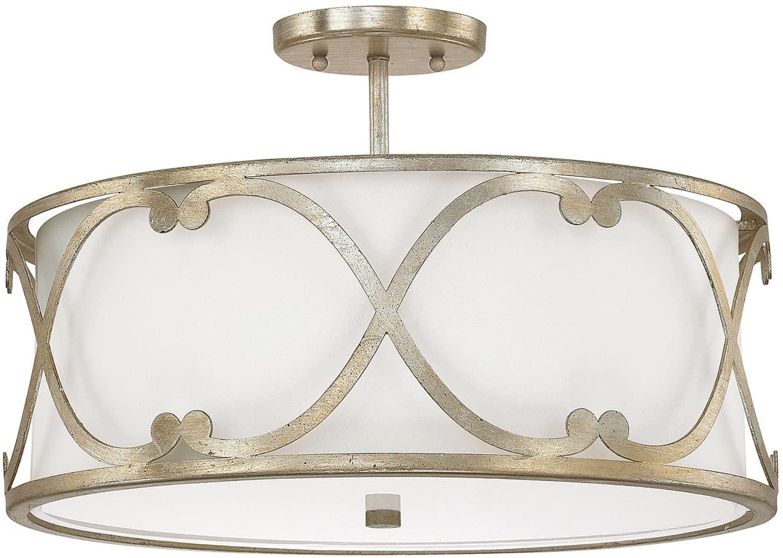 Capital Lighting 4743WG-610 Three Light Semi Flush Fixture