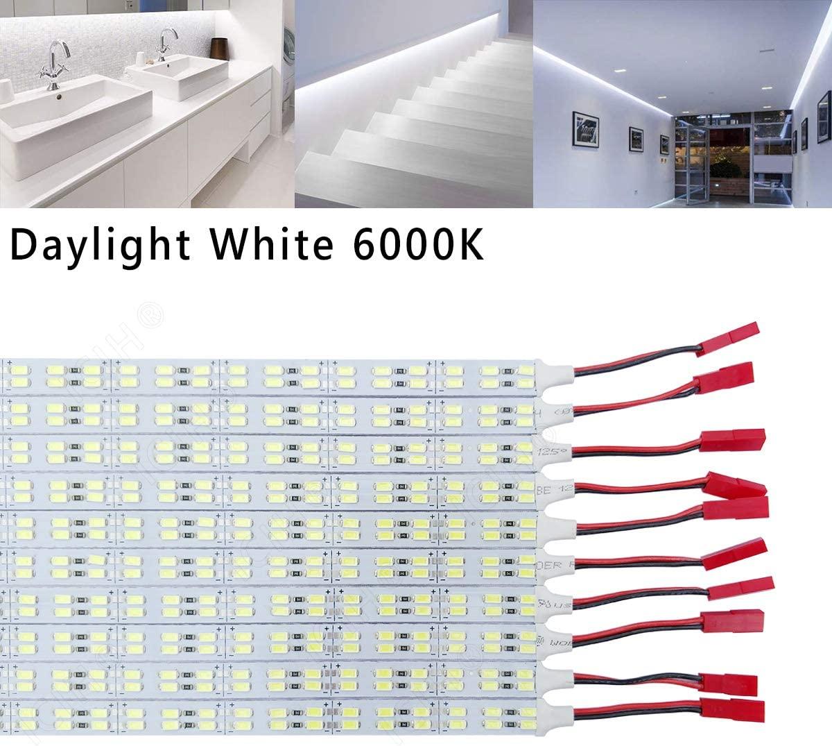 ICIH (Pack-10) Aluminum DC12V 9W SMD5630 Double Row 84LED 0.5M/20