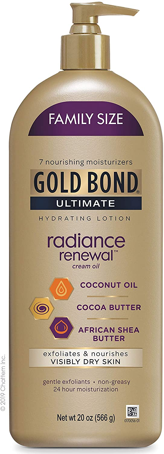 Gold Bond Ultimate Radiance Renewal Hydrating Lotion for Visibly Dry Skin, Family Size 20 oz.