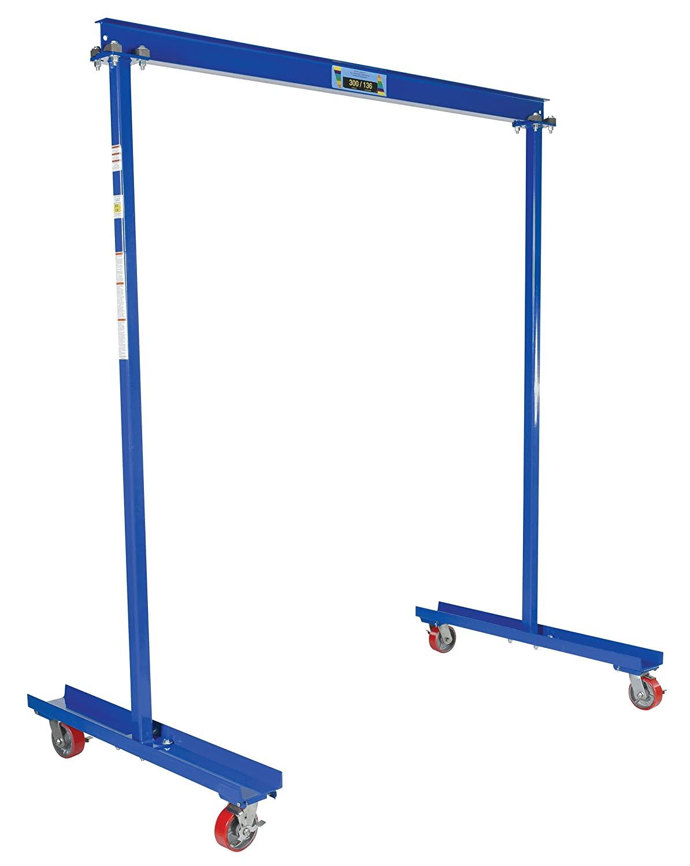 Vestil FPG-3 Work Area Portable Steel Gantry Crane, 300 lbs Capacity