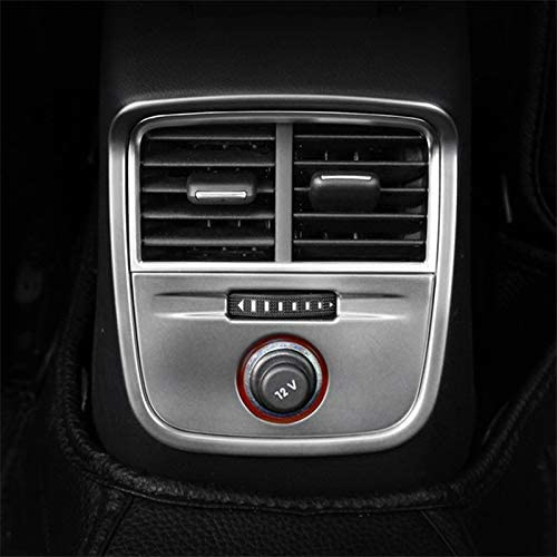 Wroadavee Interior Center Console Rear Air Vent Outlet Cover Trim for Audi A3 S3 2014-2018