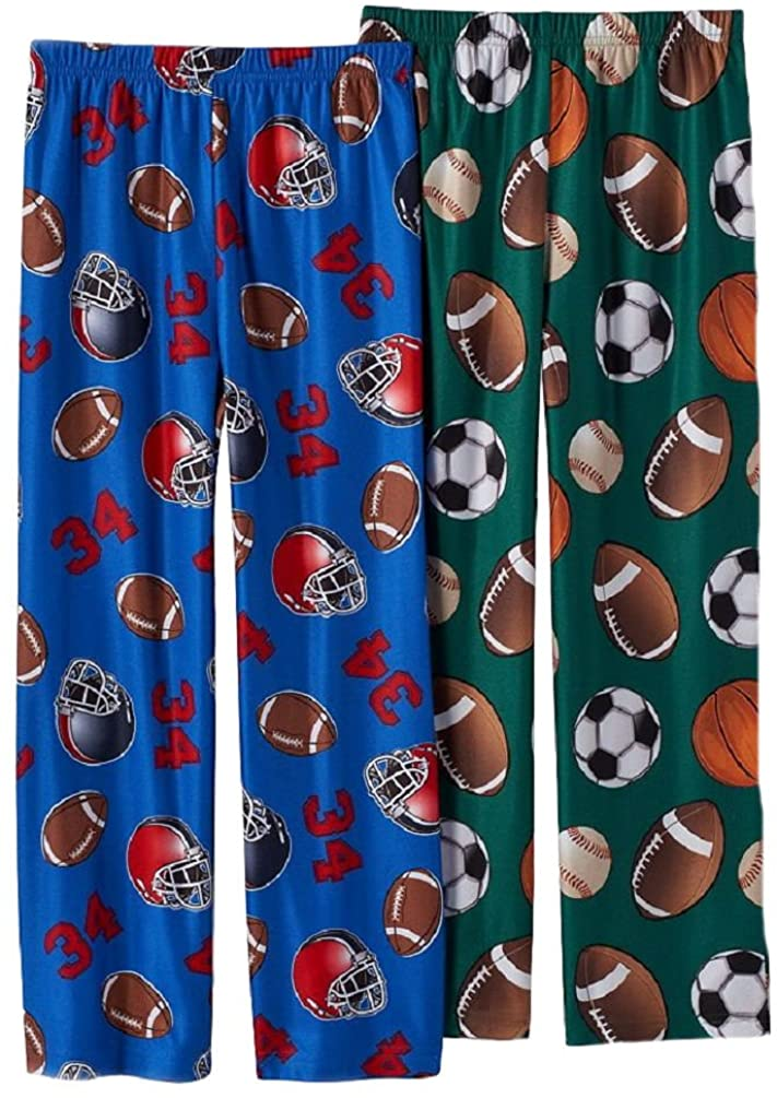 Up-Late Little Boys' All-Sport/Football Lounge Pants 2 Pair