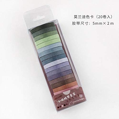 Multi-Color Washi Tape Scrapbooking Decorative Adhesive Tapes Paper Japanese Stationery Sticker 20pcs/Pack J
