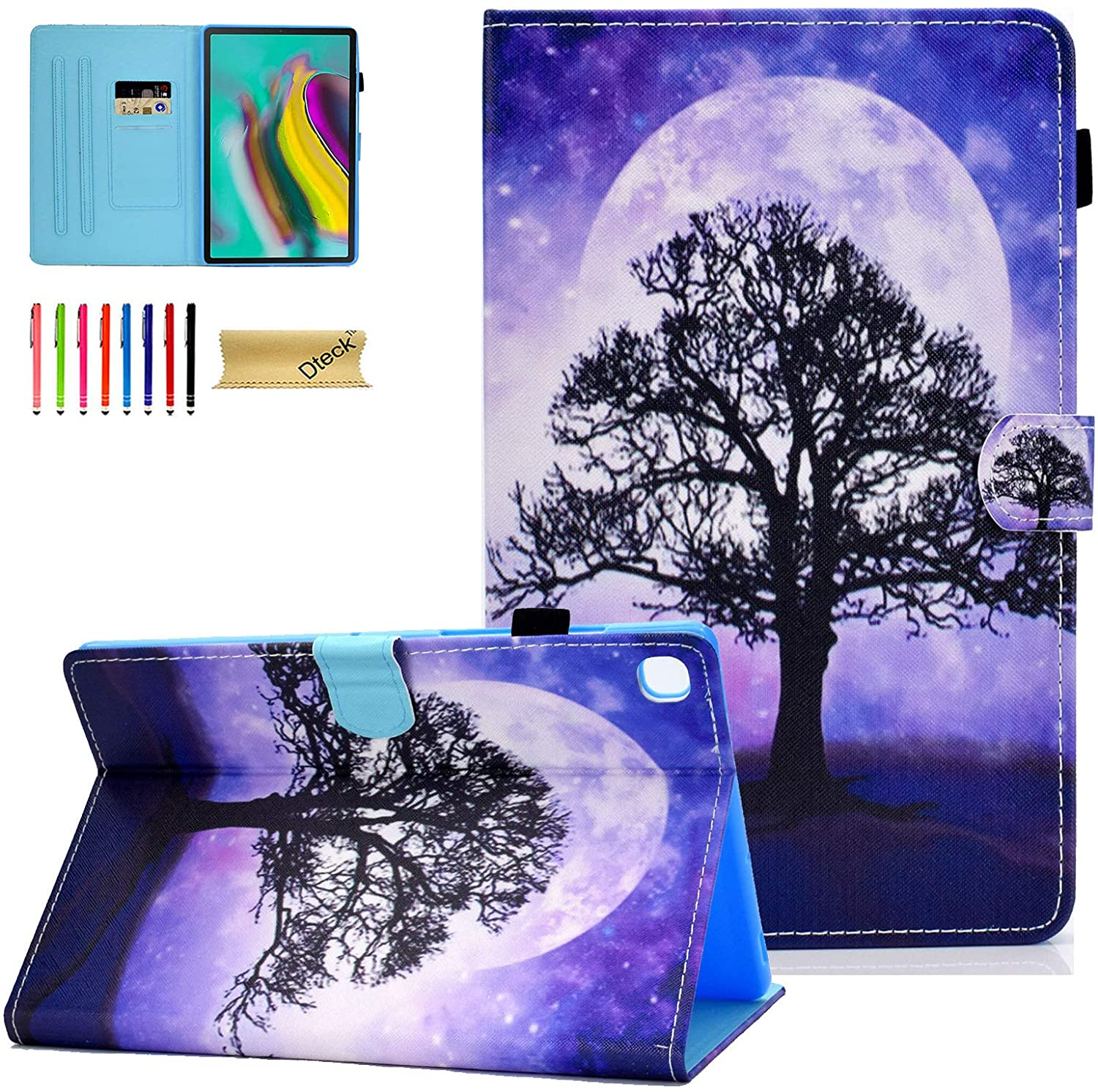 Galaxy Tab S5e 10.5 Case, SM-T720 Case, Dteck Slim PU Leather Folio Stand Protective Case with Auto Wake/Sleep Smart Cover for Samsung Galaxy Tab S5e 10.5 inch Tablet 2019 T720/T725, Life Tree
