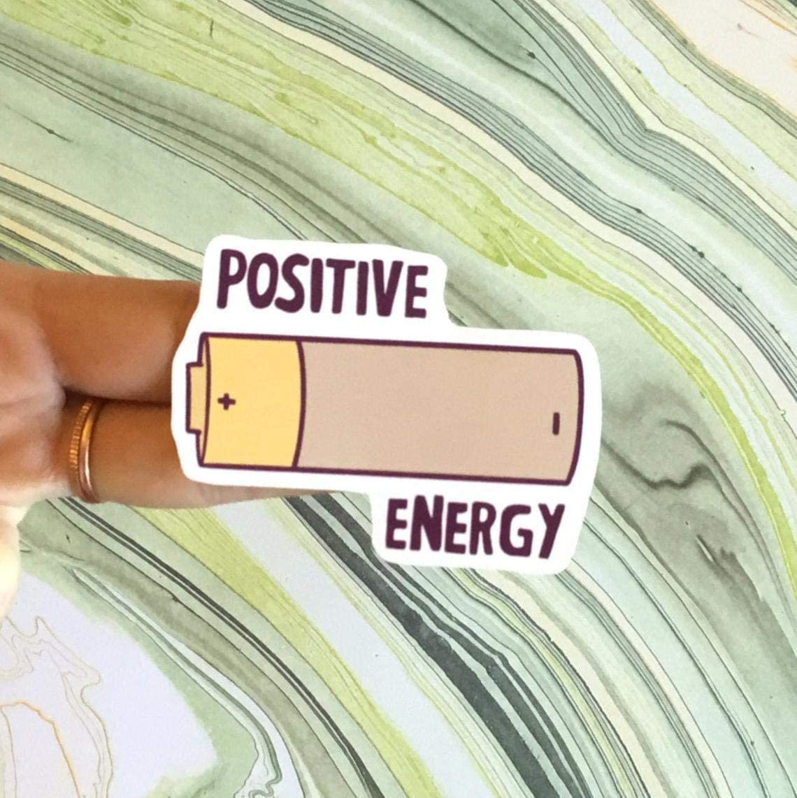 Positive Energy, Laptop Sticker and Decal, Macbook Decal, Car Decal,Bottle Decal,Vinyl Decal with 4