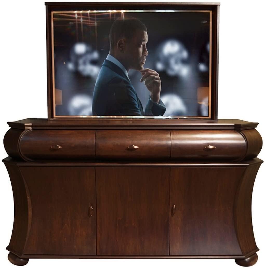 TV Lift - Handcrafted Roman TV Lift Cabinet (55